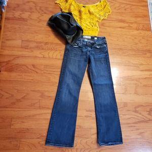 BKE women's blue jeans 28 x 31.5 denim Wendi Dark
